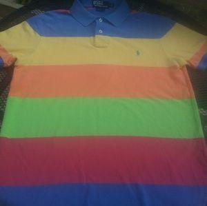 Ralph Lauren Polo Striped 4 Color Men's Shirt Lar